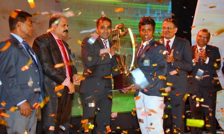 Charith Asalanka who won the Observer - Mobitel Schoolboy Cricketer of the Year 2016